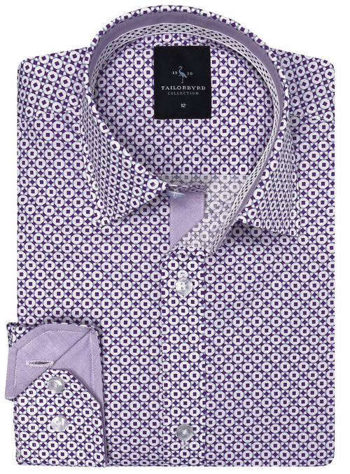 Square Dot Boys Button-Down Shirt
