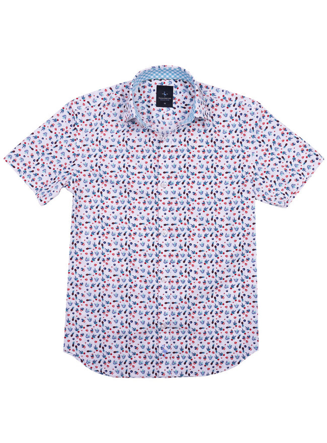 White Cacti Boys Short Sleeve Shirt