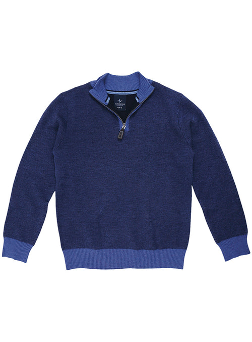 Birdseye Boys Quarterzip Sweater