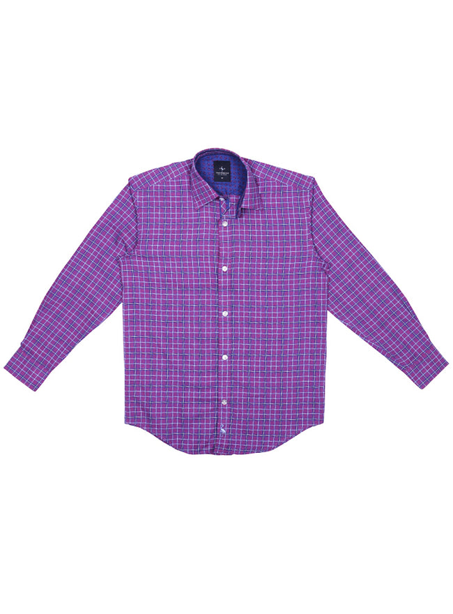 Marlberry Plaid Boys Long Sleeve Shirt