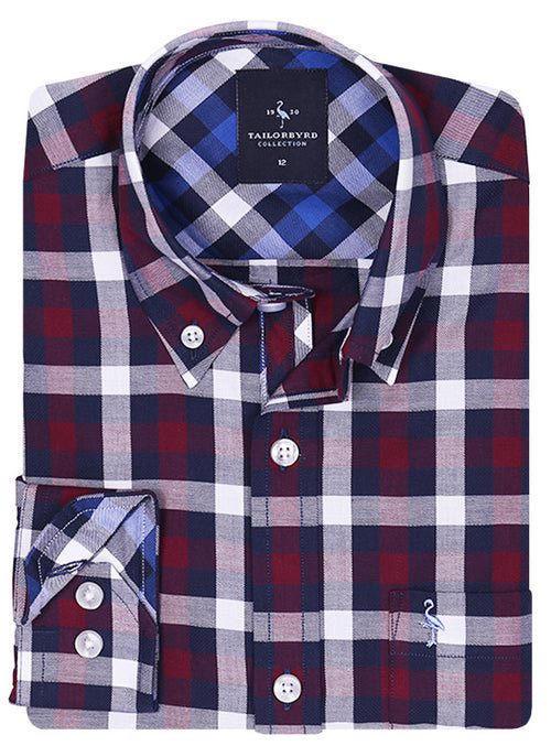 Marlberry Classic Plaid Boys Long Sleeve Shirt