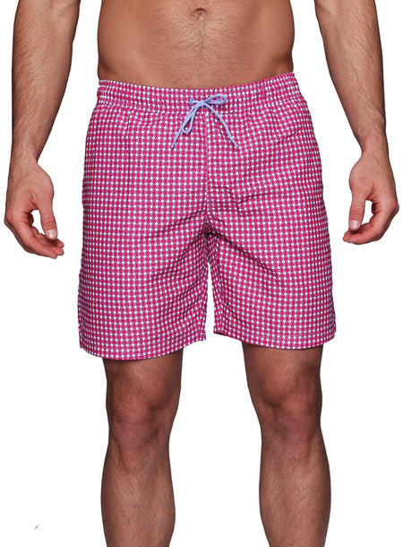 Red Chevron Swim Shorts