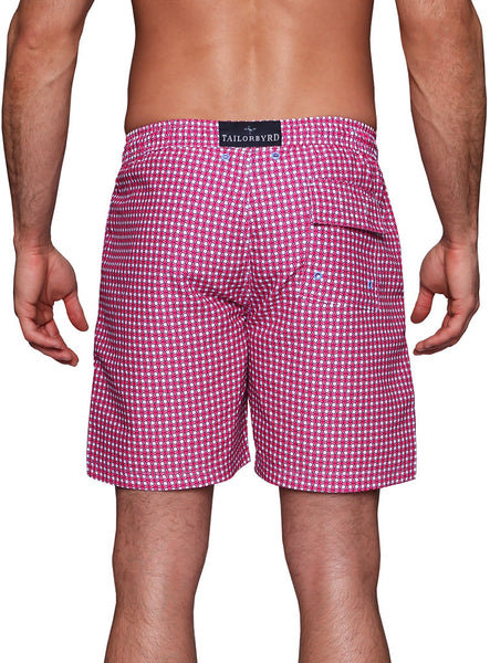 Pink Kaleidoscope Swim Shorts