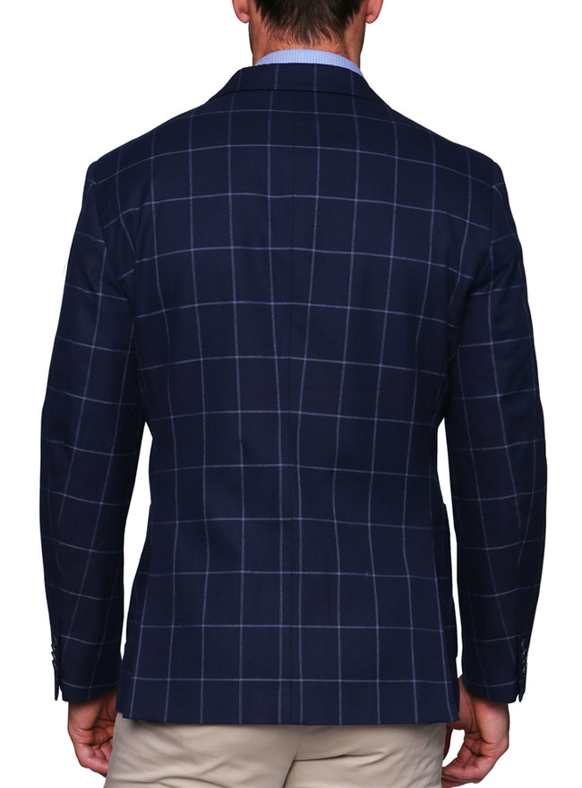 Navy Windowpane Sport Coat