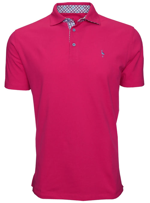 Classic Polo with Contrast Pattern