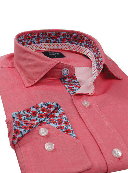 Watermelon Solid Button-Down Shirt