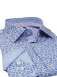 Royal Floral Button-Down Shirt