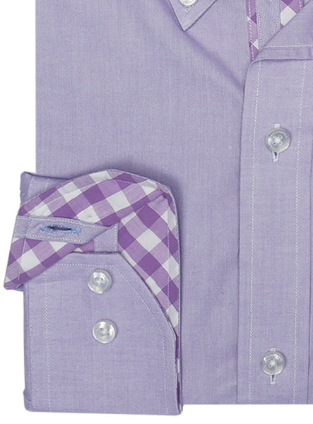 Wisteria Solid Button-Down Shirt