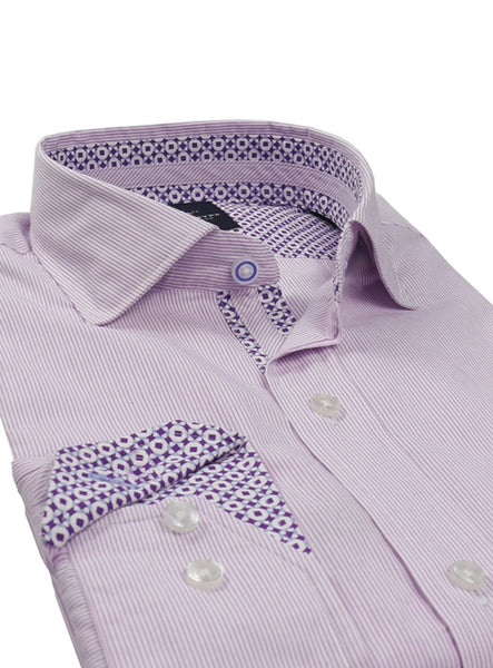 Lavender Pinstripe Button-Down Shirt