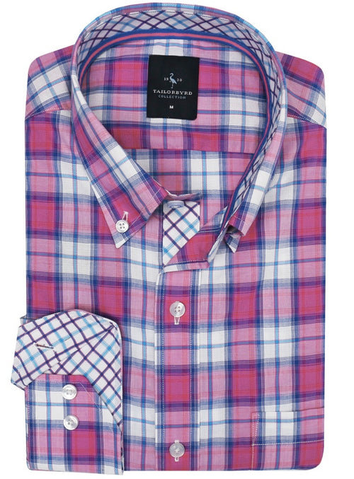 Charmed Pink Gingham Button-Down Shirt