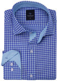 Royal Gingham Button-Down Shirt