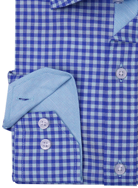 Royal Gingham Button-Down Long Sleeve Shirt