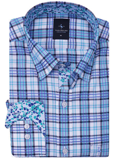 Berry Blue Plaid Button-Down Shirt