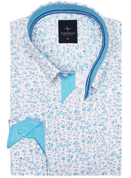 Peri Blue Floral Button-Down Shirt