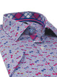 Sunglass Print Short Sleeve Button-Down Shirt