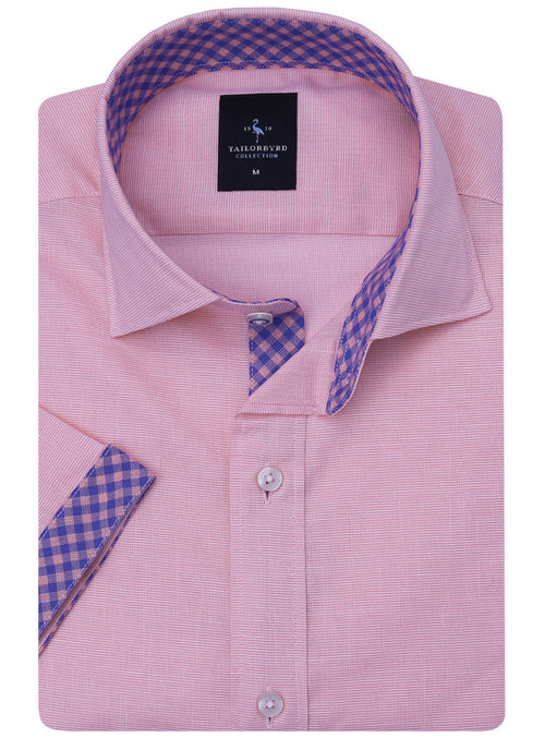Pink Lightweight Short Sleeve Button-Down Shirt