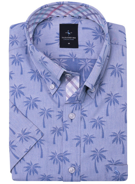 Blue Palms Button-Down Long Sleeve Shirt