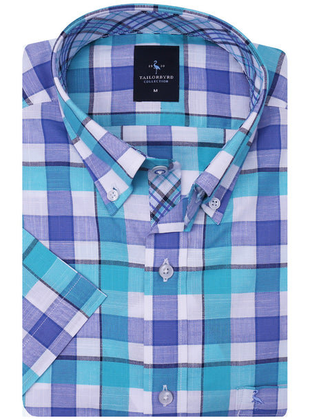 Peri Blue Plaid Button-Down Shirt