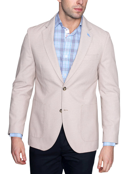 Navy Windowpane Stitch Sport Coat