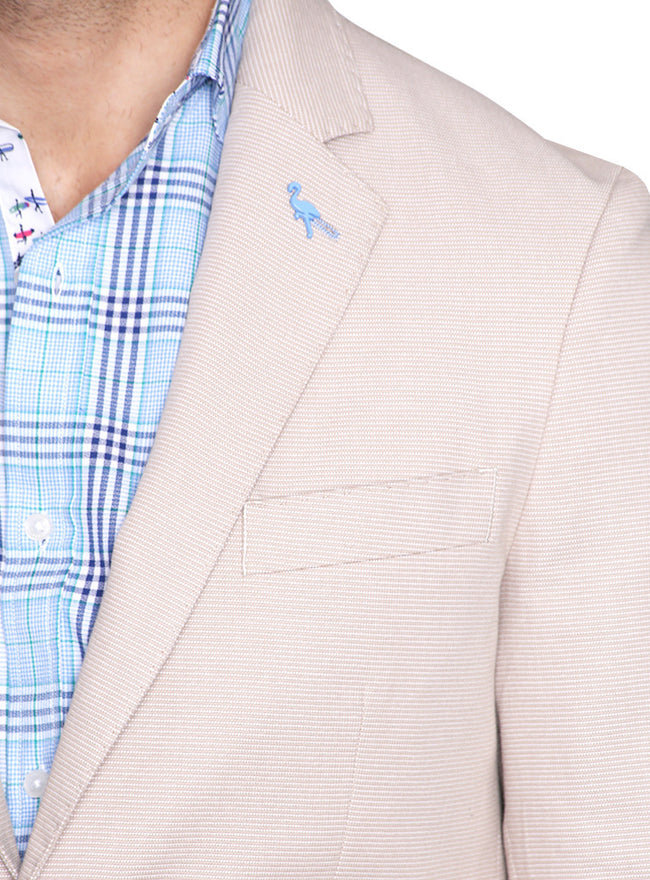Textured Basketweave Sport Coat