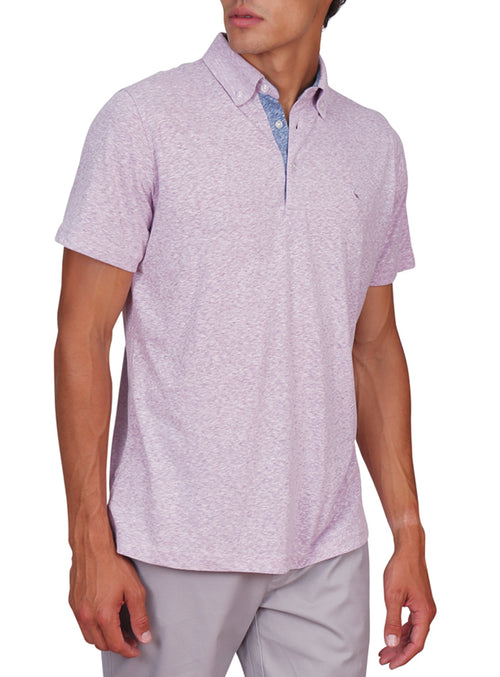 Cotton Heathered Melange Polo