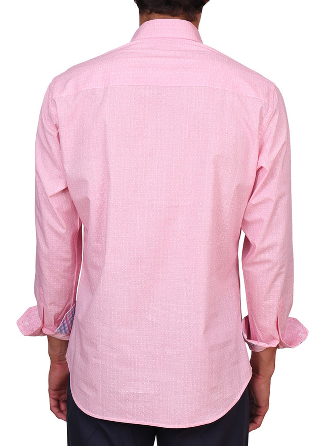 Pink Geo Long Sleeve Shirt