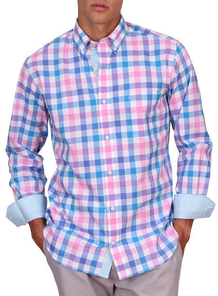 Purple Plaid Long Sleeve Shirt