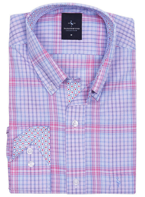 Pink Multi Plaid Long Sleeve Shirt