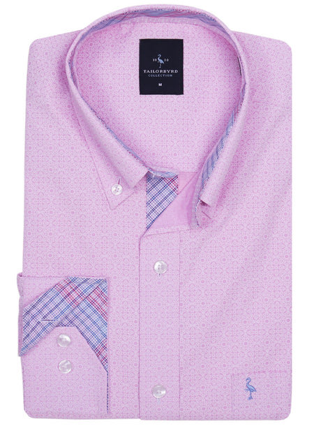 Pink Solid Button-Down Shirt