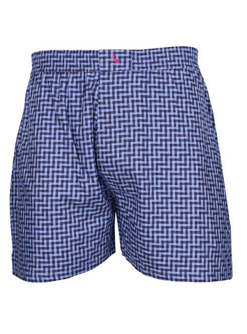 Blue Check Boxer Shorts