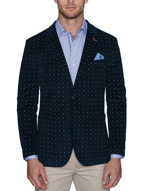 Peri Blue Floral Dot Button-Down Shirt