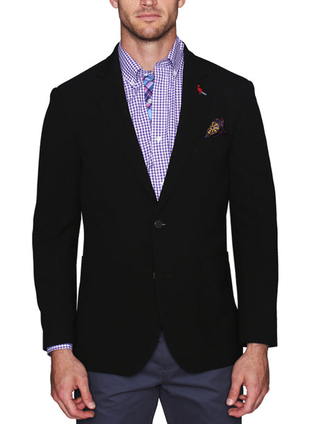 Navy/Orange Plaid Sport Coat