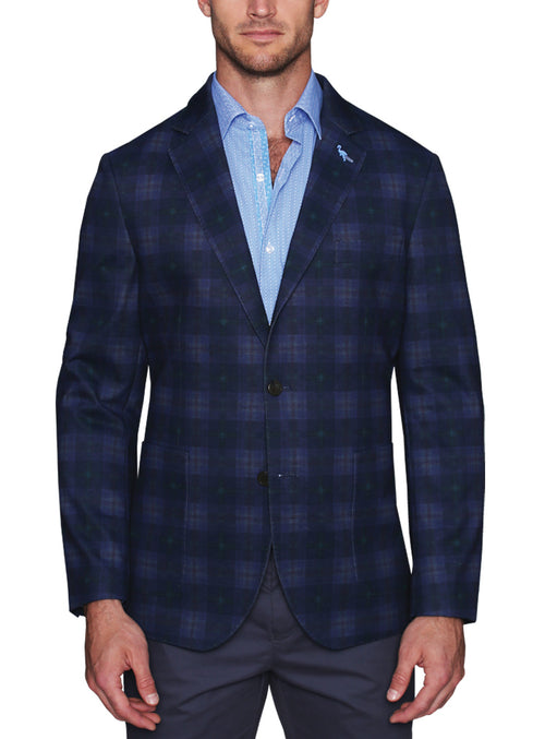Stretch Jersey Knit Printed Sport Coat