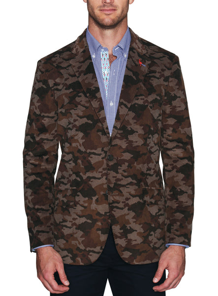 Patterned Corduroy Textured Sport Coat