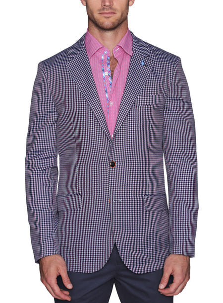 Stiched Windowpane Sport Coat