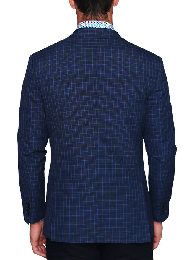 Blue and Black Plaid Sport Coat