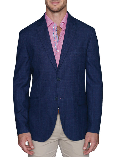 Navy Diamond Textured Sport Coat