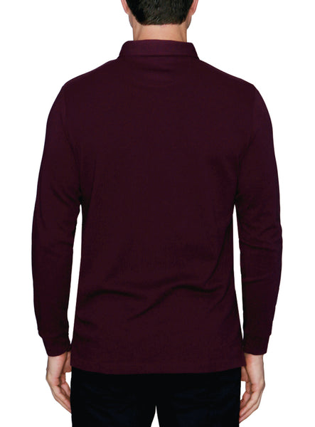 Twill Knit Long Sleeve Pullover