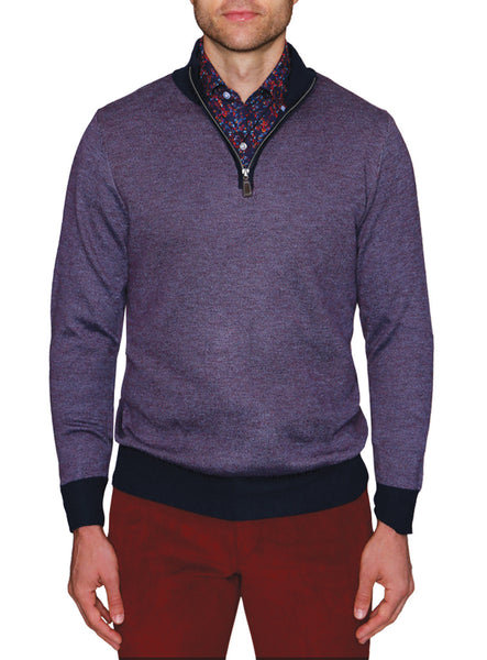 Birdseye Quarterzip Sweater