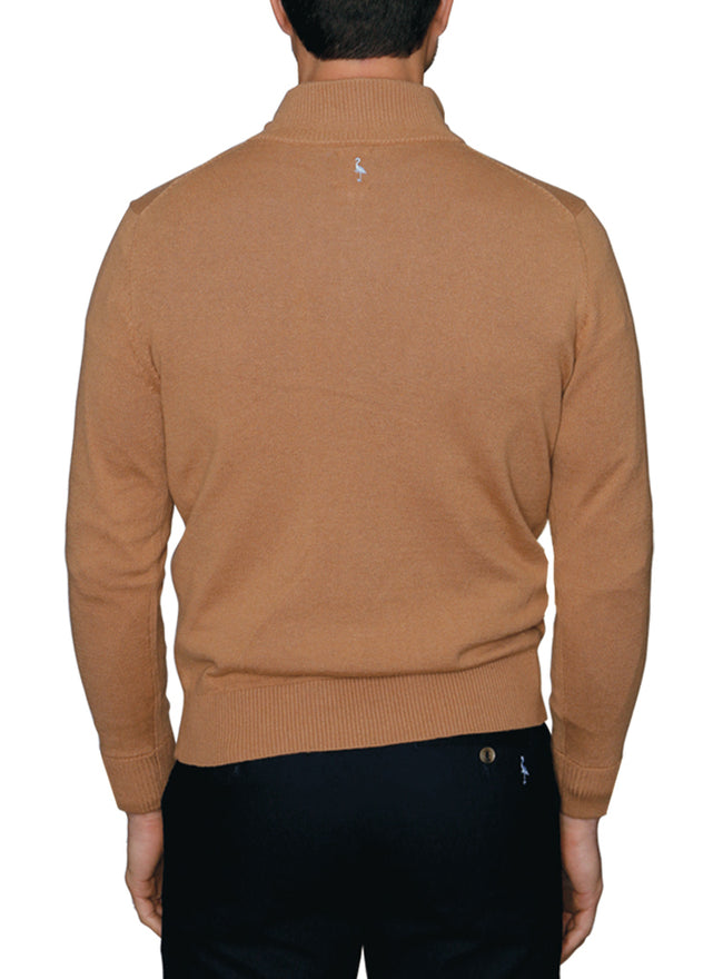 Wool Quarterzip Sweater