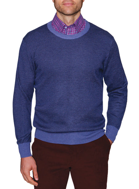 Lavender Quarterzip Cotton Sweater
