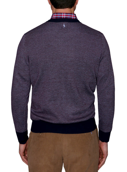 Birdseye Crew-Neck Sweater