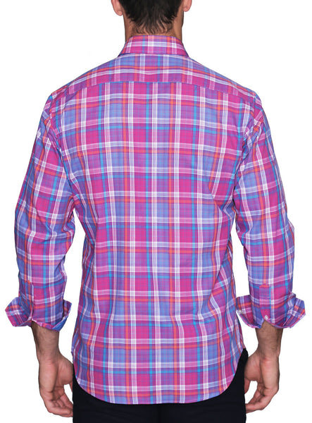 Berry Plaid Long Sleeve Shirt