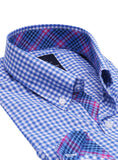 Blue Gingham Button-Down Shirt