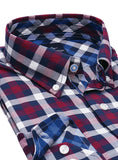 Marlberry and Navy Gingham Plaid Button-Down Shirt