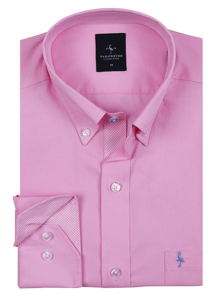 Pink Oxford Button-Down Shirt