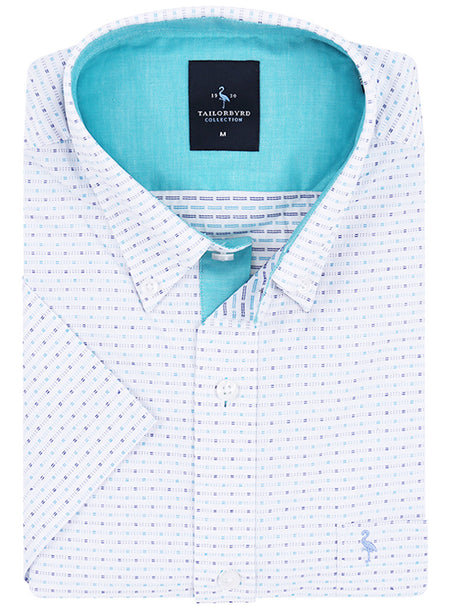 White Birdseye Trim Fit Dress Shirt