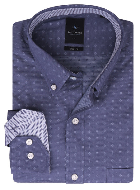 Blue and Aqua Tattersall Plaid Button-Down Shirt
