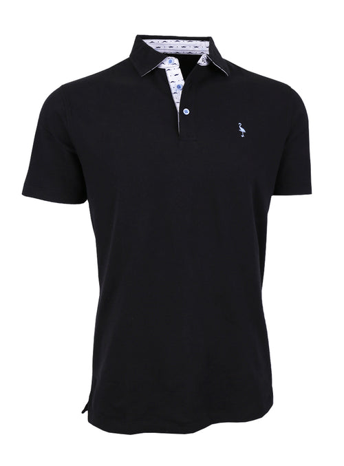 Big and Tall Classic Polo with Contrast Pattern