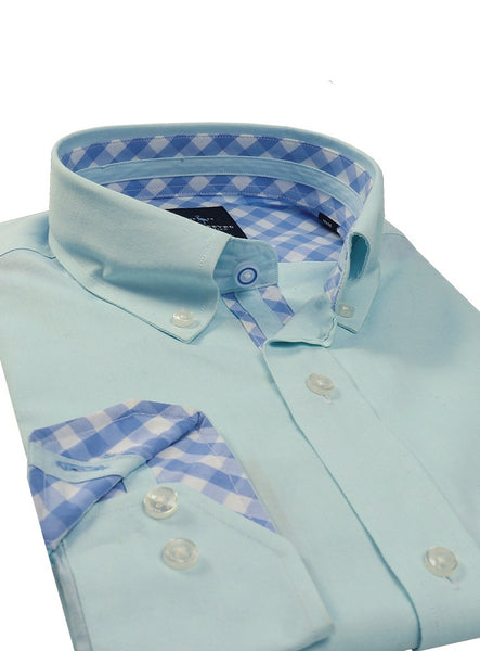 Lotus Green Solid Big and Tall Button-Down Shirt